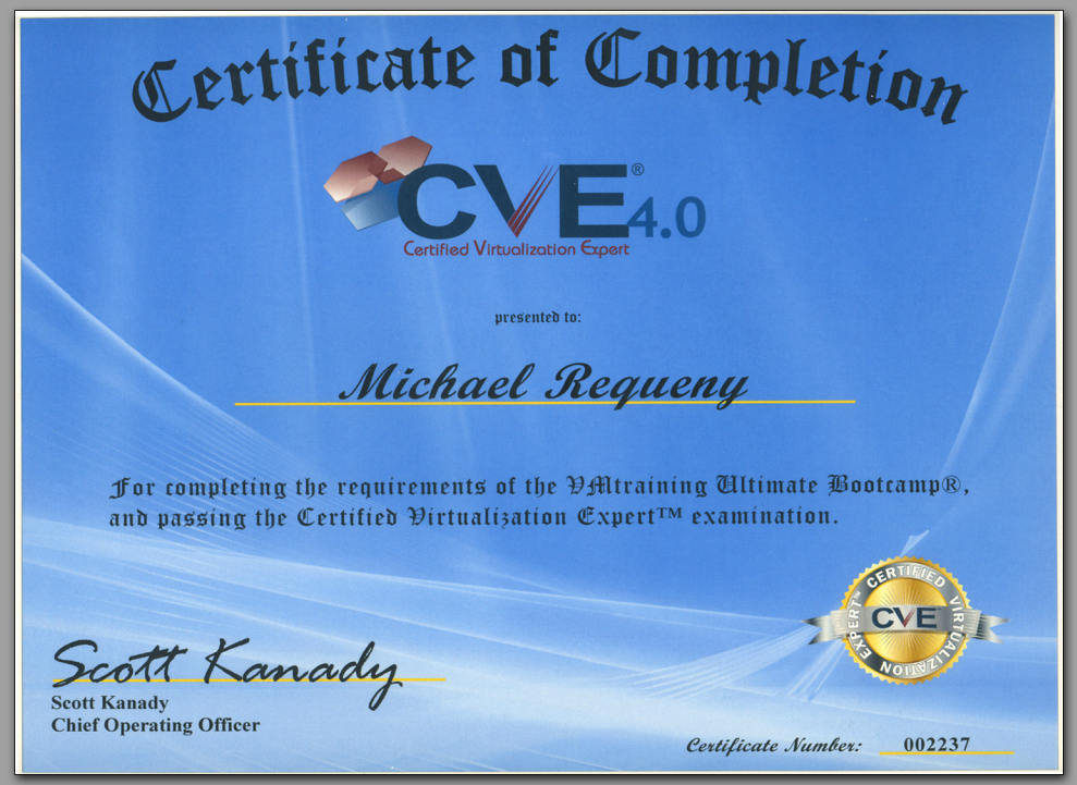 virtualization certified expert realm mike certificate